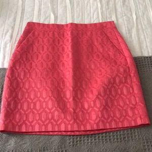 J. Crew Pink Skirt, Size 00